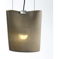 Hanging light Sarto made of core leather  taupe