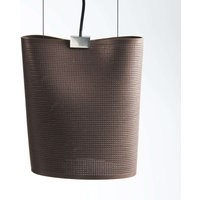 Hanging light Sarto made of core leather  brown