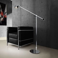 Chrome plated floor lamp AX20 with dimmer