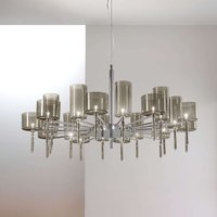 Designer chandelier Spillray with glass shades