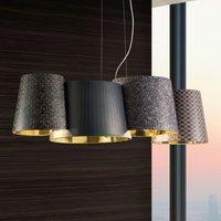 Pendant lamp Melting Pot with a dark pattern