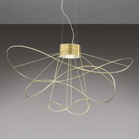 Gold plated LED hanging light Hoops 3