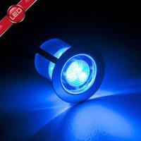 Ten Cosa LED recessed lights  3 cm  blue