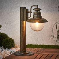 ARTU rustic pillar light  black gold
