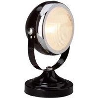 Unusual table lamp RIDER  black