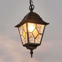 With lead glass   the outdoor hanging light Jason