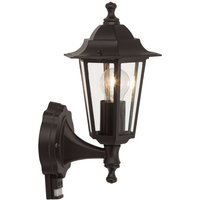 Outdoor wall light Crown black  standing  sensor