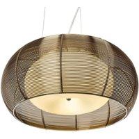 Large pendant lamp Relax bronze chrome