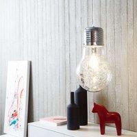 Shimmering glass hanging light Bulb  chrome
