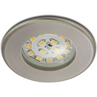 Efficient LED recessed light Nikas IP44  nickel