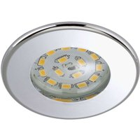 Efficient LED recessed light Nikas IP44  chrome