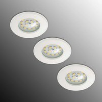 Set of three LED recessed lights Nikas IP44  white