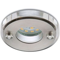 Matt nickel coloured LED recessed light Nikas IP23
