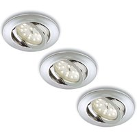 LED recessed light Erik  chrome  set of three