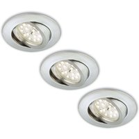 Pivo  Erik LED recessed light  set of 3  aluminium