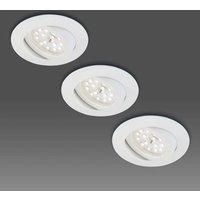 Pivotable LED recessed light  set of three  white