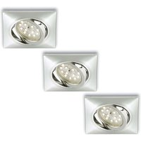 Set of 3   rect  LED recessed light Erik  chrome