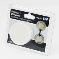 Four diffuser attachments recessed lights  6 9 cm