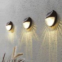 Fency   LED solar wall light in set of 3