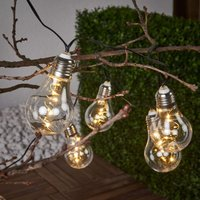 Glow   clear string lights with solar power