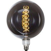 LED globe bulb E27 6 W smoked glass dimmable