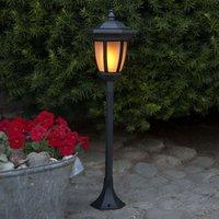 Flame LED solar light  4 in 1  black