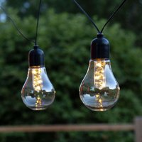 Glow LED string lights  battery  clear
