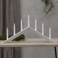 Arrow candleholder  shallow  7 bulb  white