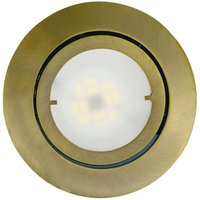 Pivotable LED recessed light Joanie  antique brass