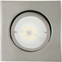 Square LED recessed light Joanie  chrome