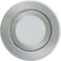 Round LED recessed light Joanie  brushed aluminium