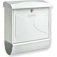 FUTURA letter box with newspaper holder  white