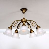 OLGA five bulb ceiling light brass