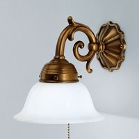 EDGAR brass wall light with chain pull