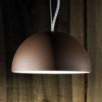 Semi circular pendant light Dune   brown