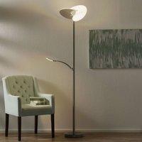 B Leuchten Malibu LED floor lamp dimmable  nickel