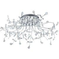 B Leuchten Crystal ceiling light  chrome  77 cm