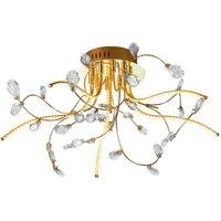 B Leuchten Crystal ceiling lamp  brass  54 cm