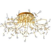 B Leuchten Crystal ceiling light  brass  77 cm