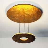 Golden LED ceiling light Saturn