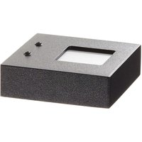 Black LED wall uplighter Cubus