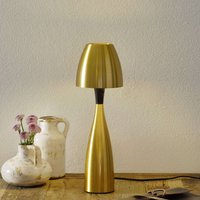 Brass coloured LED table lamp Anemon  38 9 cm
