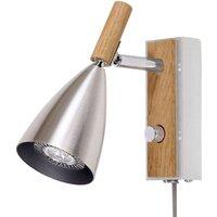 Wall lamp Frank 2 0 LED  aluminium  oak