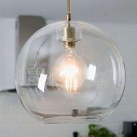 Gloria hanging light brass clear glass   38 cm