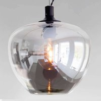 Glass hanging light Bellissimo in smoky grey