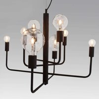 Eight bulb hanging light Random  black