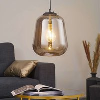 By Ryd ns Leola glass hanging light in smoky grey