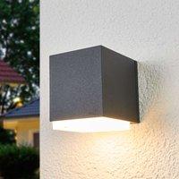 Bega cube shaped outdoor wall lamp Ben  downwards