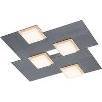 BANKAMP Quadro LED ceiling light 32 W anthracite