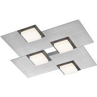 BANKAMP Quadro LED ceiling light 32 W silver